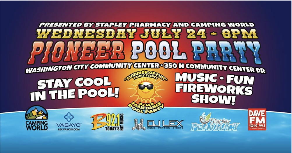 24th of July Pioneer Pool Party in Washington UT 2019