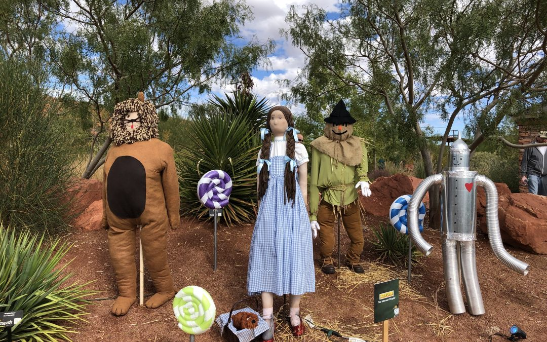 Scarecrow Walk and Haunted Canyon at Red Hills Desert Garden – 2019